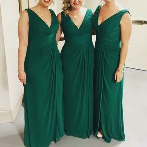 Dresses & Skirts - Emerald Green Floor Length Formal Dress